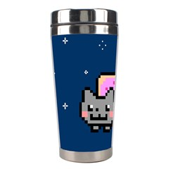 Nyan Cat Stainless Steel Travel Tumblers by Onesevenart