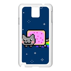 Nyan Cat Samsung Galaxy Note 3 N9005 Case (white) by Onesevenart