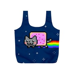 Nyan Cat Full Print Recycle Bags (s)  by Onesevenart