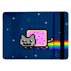 Nyan Cat Samsung Galaxy Tab Pro 12 2  Flip Case by Onesevenart
