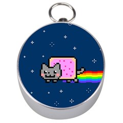 Nyan Cat Silver Compasses by Onesevenart