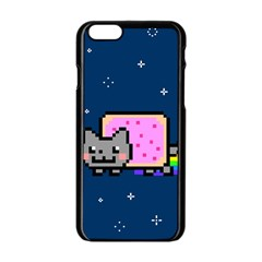 Nyan Cat Apple Iphone 6/6s Black Enamel Case by Onesevenart