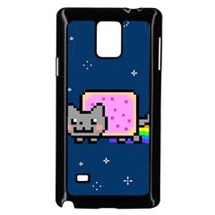 Nyan Cat Samsung Galaxy Note 4 Case (black) by Onesevenart
