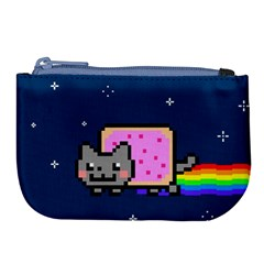 Nyan Cat Large Coin Purse by Onesevenart