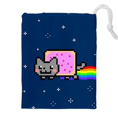 Nyan Cat Drawstring Pouches (xxl) by Onesevenart