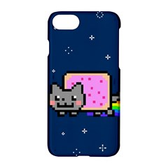 Nyan Cat Apple Iphone 7 Hardshell Case by Onesevenart