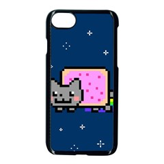Nyan Cat Apple Iphone 7 Seamless Case (black) by Onesevenart