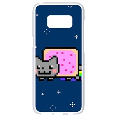 Nyan Cat Samsung Galaxy S8 White Seamless Case by Onesevenart