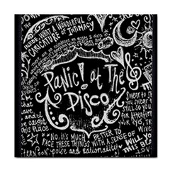 Panic ! At The Disco Lyric Quotes Tile Coasters by Onesevenart