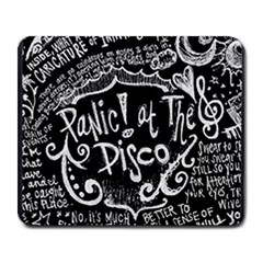 Panic ! At The Disco Lyric Quotes Large Mousepads by Onesevenart