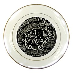 Panic ! At The Disco Lyric Quotes Porcelain Plates by Onesevenart