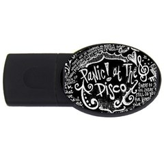 Panic ! At The Disco Lyric Quotes Usb Flash Drive Oval (4 Gb) by Onesevenart