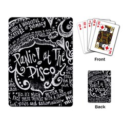 Panic ! At The Disco Lyric Quotes Playing Card by Onesevenart