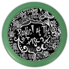 Panic ! At The Disco Lyric Quotes Color Wall Clocks by Onesevenart