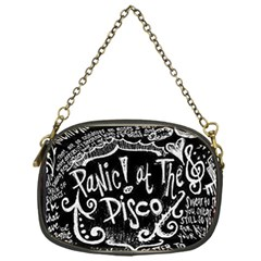Panic ! At The Disco Lyric Quotes Chain Purses (one Side)  by Onesevenart
