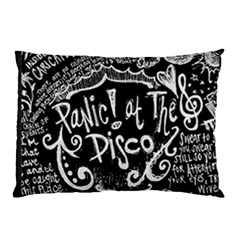 Panic ! At The Disco Lyric Quotes Pillow Case by Onesevenart