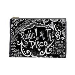 Panic ! At The Disco Lyric Quotes Cosmetic Bag (large)  by Onesevenart