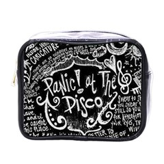 Panic ! At The Disco Lyric Quotes Mini Toiletries Bags by Onesevenart