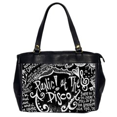 Panic ! At The Disco Lyric Quotes Office Handbags (2 Sides)  by Onesevenart