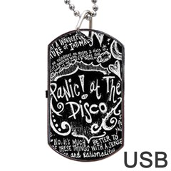 Panic ! At The Disco Lyric Quotes Dog Tag Usb Flash (two Sides) by Onesevenart