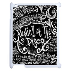 Panic ! At The Disco Lyric Quotes Apple Ipad 2 Case (white) by Onesevenart