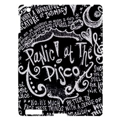 Panic ! At The Disco Lyric Quotes Apple Ipad 3/4 Hardshell Case by Onesevenart
