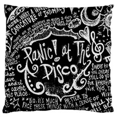 Panic ! At The Disco Lyric Quotes Large Cushion Case (one Side) by Onesevenart