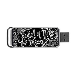 Panic ! At The Disco Lyric Quotes Portable Usb Flash (two Sides) by Onesevenart