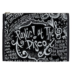 Panic ! At The Disco Lyric Quotes Cosmetic Bag (xxl)  by Onesevenart