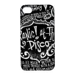 Panic ! At The Disco Lyric Quotes Apple Iphone 4/4s Hardshell Case With Stand by Onesevenart