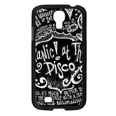 Panic ! At The Disco Lyric Quotes Samsung Galaxy S4 I9500/ I9505 Case (black) by Onesevenart