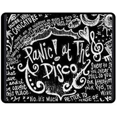 Panic ! At The Disco Lyric Quotes Double Sided Fleece Blanket (medium)  by Onesevenart