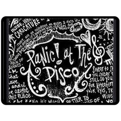 Panic ! At The Disco Lyric Quotes Double Sided Fleece Blanket (large)  by Onesevenart