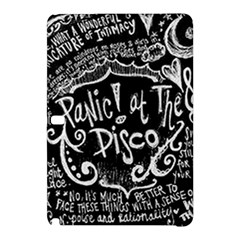 Panic ! At The Disco Lyric Quotes Samsung Galaxy Tab Pro 10 1 Hardshell Case by Onesevenart