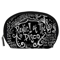 Panic ! At The Disco Lyric Quotes Accessory Pouches (large)  by Onesevenart