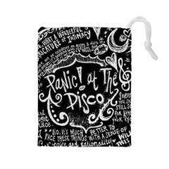 Panic ! At The Disco Lyric Quotes Drawstring Pouches (large)  by Onesevenart