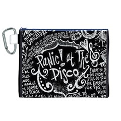 Panic ! At The Disco Lyric Quotes Canvas Cosmetic Bag (xl) by Onesevenart