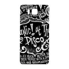Panic ! At The Disco Lyric Quotes Samsung Galaxy Alpha Hardshell Back Case by Onesevenart