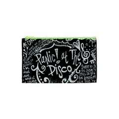 Panic ! At The Disco Lyric Quotes Cosmetic Bag (xs) by Onesevenart