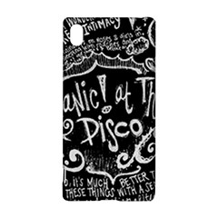 Panic ! At The Disco Lyric Quotes Sony Xperia Z3+ by Onesevenart