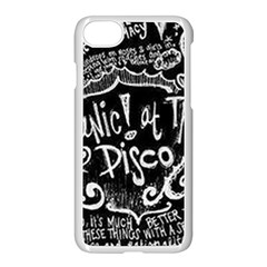 Panic ! At The Disco Lyric Quotes Apple Iphone 7 Seamless Case (white) by Onesevenart