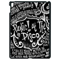 Panic ! At The Disco Lyric Quotes Apple Ipad Pro 9 7   Black Seamless Case by Onesevenart