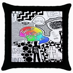 Panic ! At The Disco Throw Pillow Case (black) by Onesevenart