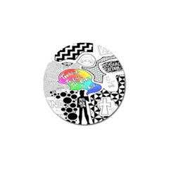 Panic ! At The Disco Golf Ball Marker (4 Pack) by Onesevenart