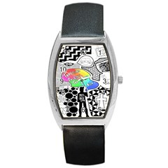 Panic ! At The Disco Barrel Style Metal Watch by Onesevenart
