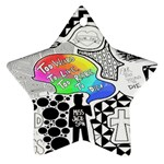 Panic ! At The Disco Star Ornament (Two Sides)