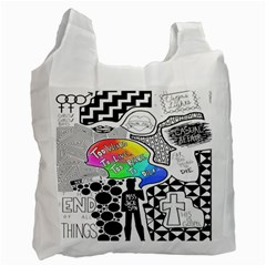 Panic ! At The Disco Recycle Bag (one Side) by Onesevenart
