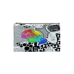 Panic ! At The Disco Cosmetic Bag (small)  by Onesevenart