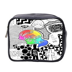Panic ! At The Disco Mini Toiletries Bag 2 Side by Onesevenart