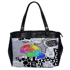 Panic ! At The Disco Office Handbags by Onesevenart